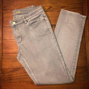 Michael Kors Gray Izzy Skinny Jeans